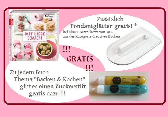 Creatives Backen Angebot Zuckerstift Gratis