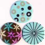 Efco Button Sensations Simple Blue 35 mm