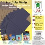 Efco Bascetta Sterne Papier DUO 15 x 15 cm gold / blau