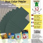 Efco Bascetta Sterne Papier DUO 15 x 15 cm silber / grün
