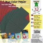 Efco Bascetta Sterne Papier DUO 15 x 15 cm grün / rot