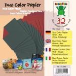 Efco Bascetta Sterne Papier DUO 10 x 10 cm rot - grün