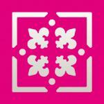 Efco Stanzer Quadrat + Rahmen Fleur de Lis ~ 22 x 22 mm