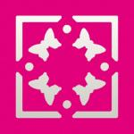 Efco Stanzer Quadrat + Rahmen Schmetterlinge ~ 22 x 22 mm