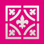 Efco Stanzer Quadrat Elegant Fleur de Lis ~ 22 x 22 mm