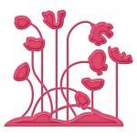 Efco Spellbinders Stanzschablone Die D-Lites™ Poppy Patch ~ 7,3 x 6,4 cm