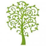 Efco Spellbinders Stanzschablone Die D-Lites™ Whimsical Tree ~ 6 x 8,3 cm