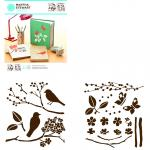 Efco MS Medium Stencil Portfolios Birds & Berries 22 x 24 cm