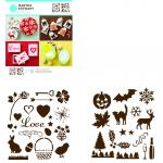 Efco MS Medium Stencil Portfolios Holiday Icons 22 x 24 cm
