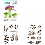 Efco MS Adhesive Stencils Leaves 14 x 19 cm