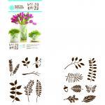 Efco MS Adhesive Stencils Leaves 14 x 19 cm