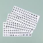 Efco Color-Dekor 180 °C Buchstaben + Zahlen 100 x 200 mm schwarz