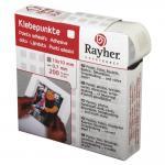 Rayher Klebepunkte, 10x10mm, 0,7mm, Rolle 200Stück