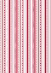 Rayher Baumwoll-Stoff: Streifenspiel, rosé, 50x65cm, 135