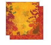 Rayher Scrapbookingpapier Forever Fall Nature, 30,5x30,5cm, 190g/m2
