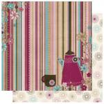 Rayher Scrapbookingpapier Sweet Tooth Stripe, Bo Bunny