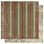 Rayher Scrapbookingpapier Father X-mas Stripe, 30,5x30,5cm, 190g/m2