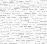 """Rayher Scrapbooking-Papier: """"von Herzen"""", silber, 30,5x30,5 cm, 190"""