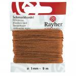 Rayher Schmuckkordel, kastanie, ø 1 mm, SB-Karte 20 m