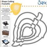 Rayher Sizzix Framelits Schablonen Set, 3.81x3.49-12.7x12.38cm,