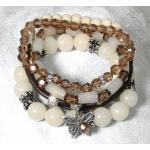 Rayher Bastelset: Armbänder Estelle, karamell, Material f. 4 Armbänder,