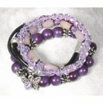 Rayher Bastelset: Armbänder Estelle, lila, Material f. 4 Armbänder,
