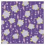 Rayher Scrapbooking-Papier: Lilac Blossums, 190g, mit Glitter
