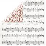 Rayher Scrapbookingpapier Music, 30,5x30,5cm, 190g/m2