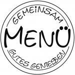 """Rayher Stempel """"Menü"""", 6cm ø, """"Gemeinsam gutes geniessen"""""""