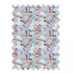 Rayher Baumwoll- Stoff: Eulen - Blumenwiese, 100x65cm, 135g/m²,