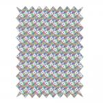 Rayher Baumwoll- Stoff: Eulen - Blümchen, 100x65cm, 135g/m²,
