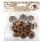 Rayher Holz Spulen dunkel, 2,5cm ø, 1,5cm, SB-Btl 12Stück
