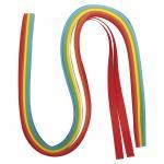 Rayher Papier für Quilling, regenbogen, 50x0,9cm, 80 g/m2,