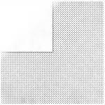 Rayher Scrapbookingpapier Double Dot, weiß, 30,5x30,5cm, 190g/m2