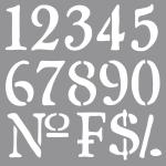 Rayher Schablone Nummern, 30,5x30,5cm, SB-Btl 1Stück