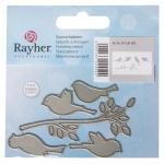 Rayher Metall Stanzschablone Set: Birds on a Branch, 2,5-7,5cm, SB-Btl