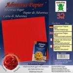 Efco Adventus Papier 10 x 10 cm 32 Blatt / 80 g/m² rot