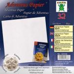 Efco Adventus Papier 10 x 10 cm 32 Blatt / 80 g/m² weiß