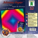 Efco Adventus Papier 10 x 10 cm 32 Blatt / 80 g/m² regenbogen
