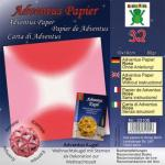 Efco Adventus Papier 10 x 10 cm 32 Blatt / 80 g/m² rosa