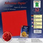 Efco Adventus Papier 15 x 15 cm 32 Blatt / 80 g/m² rot