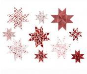 Fröbelsterne Graphic 40 Streifen 1,5/2,5 weiß/rot