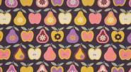 Rico Stoff 50/160 cm Äpfel/Birne gelb