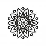 Rayher Stempel Blumenmandala, 3cm ø