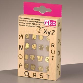 Efco Brennstempel Set für 1840001 ABC Set M-Z 16-teilig
