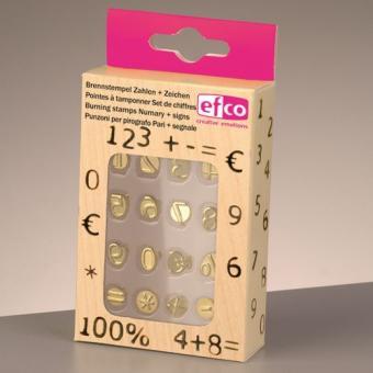 Efco Brennstempel Set für 1840001 Zahlen + Zeichen 16-teilig