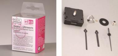 Efco Quarzuhrwerk + Zeiger für Zifferblatt bis 13mm