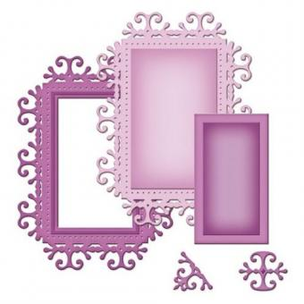 Efco Spellbinders Stanzschablone Die D-Lites™ Frame One ~ 1,6 x 1 - 5,7 x