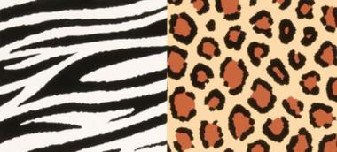 Efco Color-Dekor 180 °C Zebra/Leopard 100 x 200 mm 2-fach