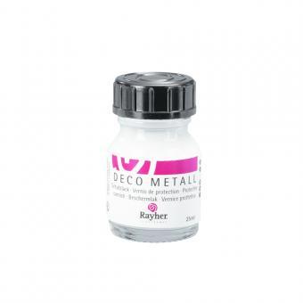 Rayher Deco-Metall-Schutzlack, Flasche 25 ml
